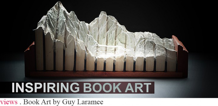 Today I want to share with you the fantastic work of Guy Laramée and incredible series of carved book landscapes and structures.