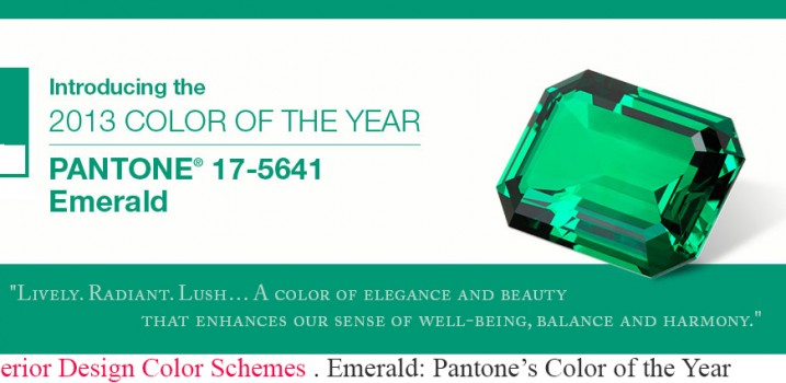 Information and must buy interior design products of Pantone's 2013 Color of the Year, Emerald Green. This jewel-like hue creates a luxurious feel in any room.