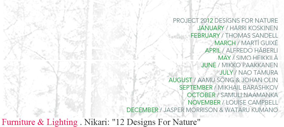 "Nikari: ""12 Designs For Nature"" slider"