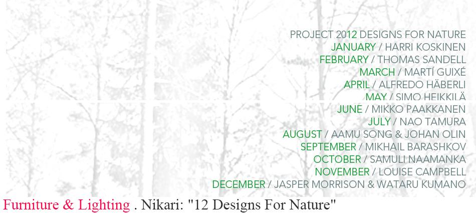 "Nikari: ""12 Designs For Nature"" slider"
