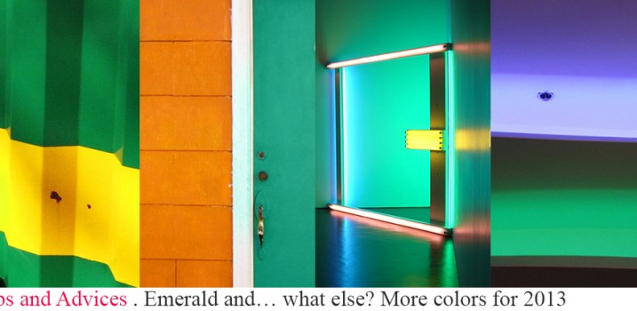 Emerald &…what else? More colors for 2013