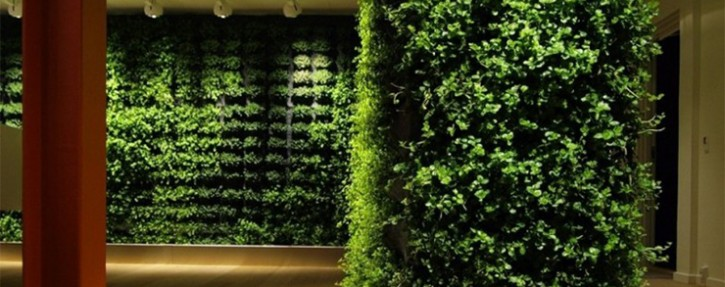 Indoor gardens are a versatile way to bring the green lush into your home, clean your air, and are part of sustainable arquitecture. Good designers employ a bit of green to make a big difference in a home.