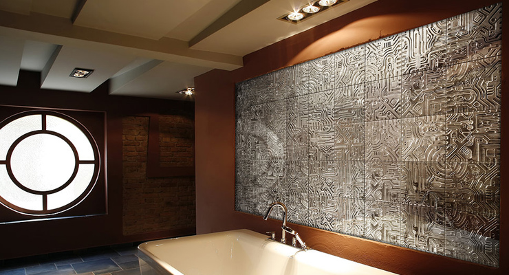 Designers who have turned to recycling aluminum transforming it into amazing artistic wall tiles  Tiles with a tale Materials are being used in increasingly innovative ways for unique and practical design solutions 2