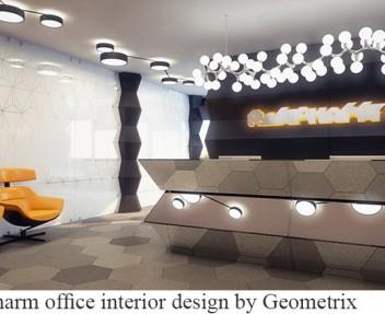 Rompharm office interior design by Geometrix