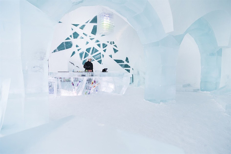 Ice as an Architectural Material  Ice as an Architectural Material ice hotel sweden new materials communal areas 2