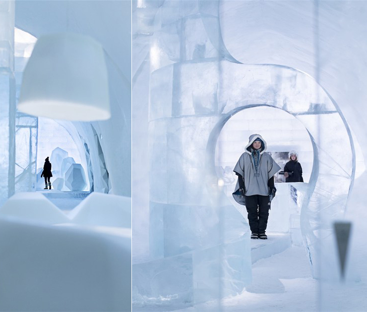 Ice as an Architectural Material  Ice as an Architectural Material ice hotel sweden new materials communal areas 5