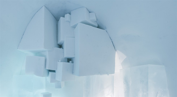 New Materials . Ice as an Architectural Material  Ice as an Architectural Material ice hotel sweden new materials details 10