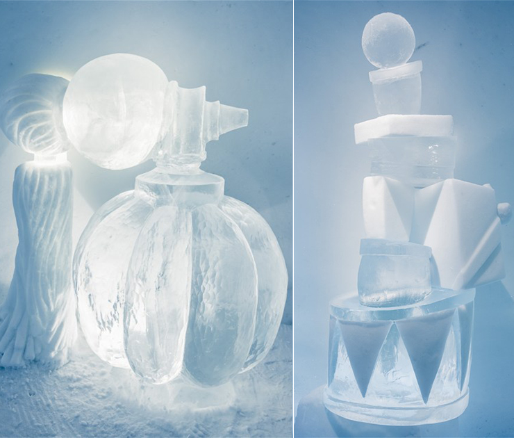 New Materials . Ice as an Architectural Material  Ice as an Architectural Material ice hotel sweden new materials details 2