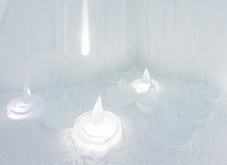 New Materials . Ice as an Architectural Material  Ice as an Architectural Material ice hotel sweden new materials details 3