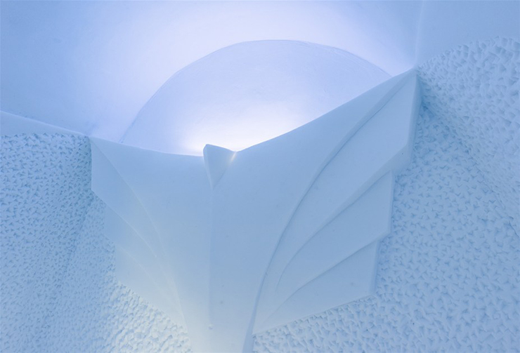 New Materials . Ice as an Architectural Material  Ice as an Architectural Material ice hotel sweden new materials details 8