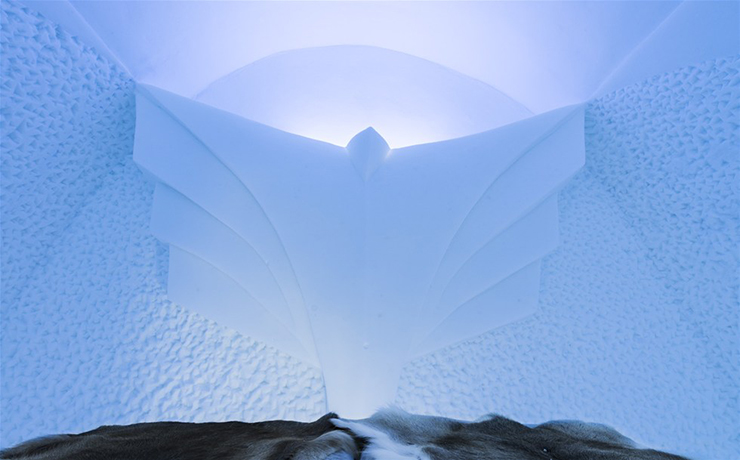 New Materials . Ice as an Architectural Material  Ice as an Architectural Material ice hotel sweden new materials details 9