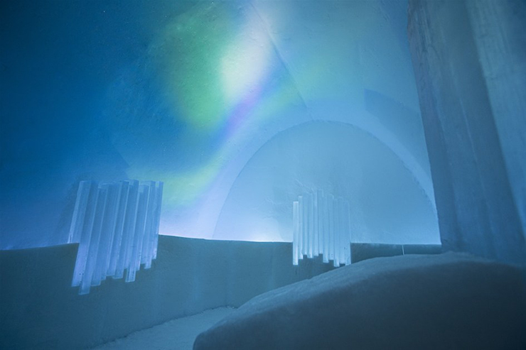 Ice as an Architectural Material  Ice as an Architectural Material ice hotel sweden new materials suite 1