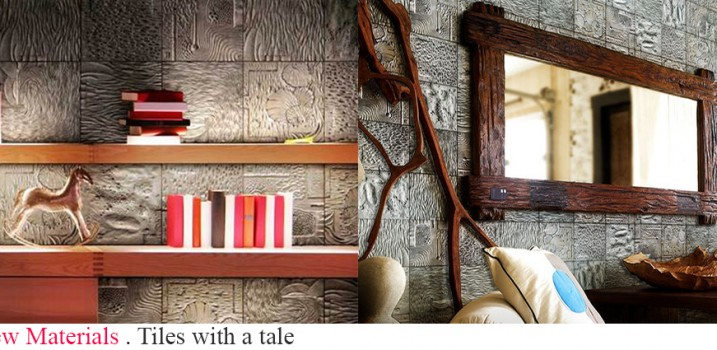 Designers who have turned to recycling aluminum transforming it into amazing artistic wall tiles.