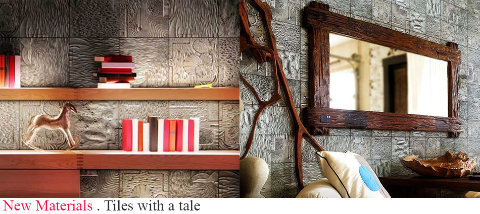 Designers who have turned to recycling aluminum transforming it into amazing artistic wall tiles.  Tiles with a tale slide