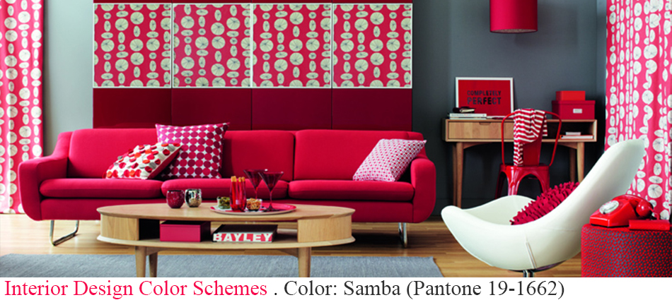 Today we are going to look at another of Pantone's colors for this year, Samba red, a passionate and lively color.  Color: Samba (Pantone 19-1662) slider3