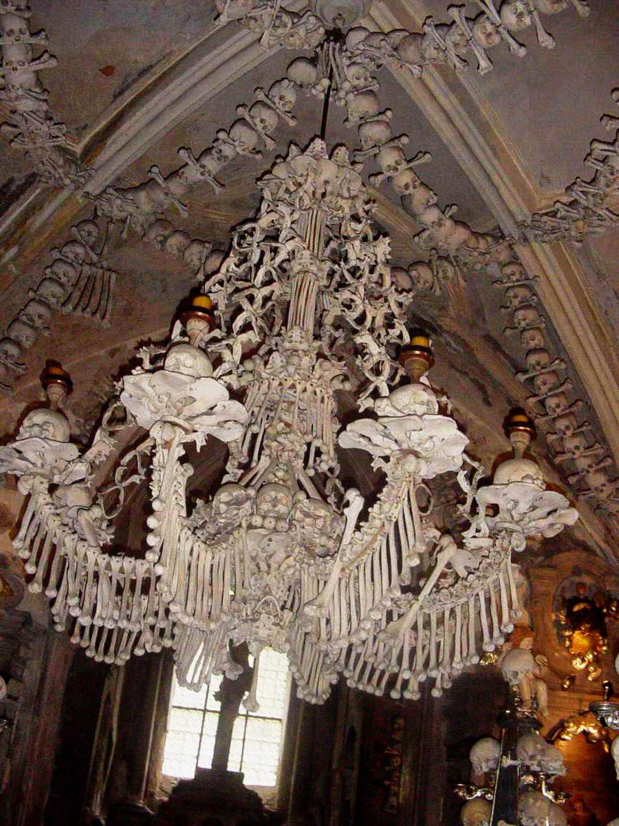 Sedlec-Ossuary  Mood board: 50 Exuberant Chandeliers Sedlec Ossuary