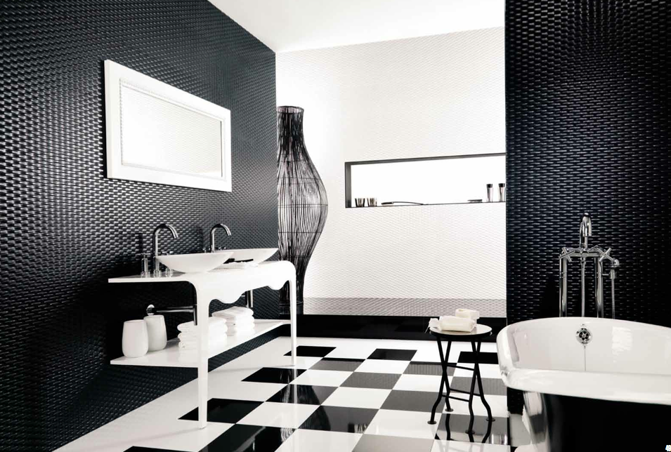 interior design color schemes Interior Design Color Schemes: Black and White Porcelanosa Ace Blanco e Negro