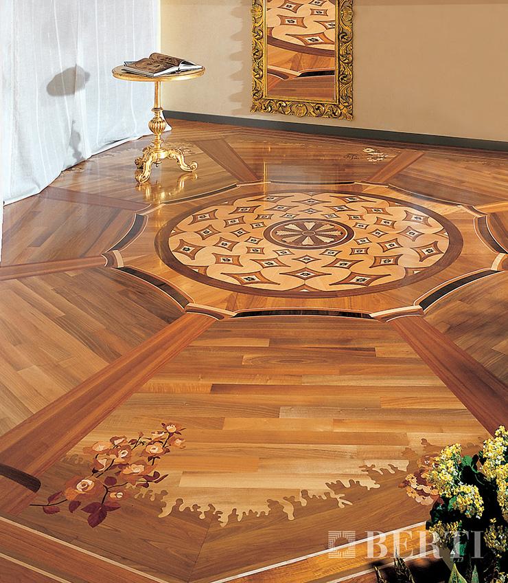 intarsio  25 Wooden Floors Ideas intarsio