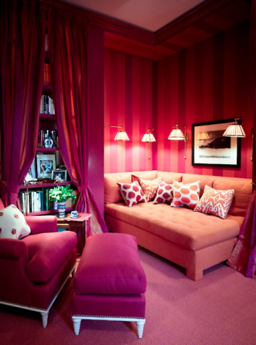 pink interior lounge counches