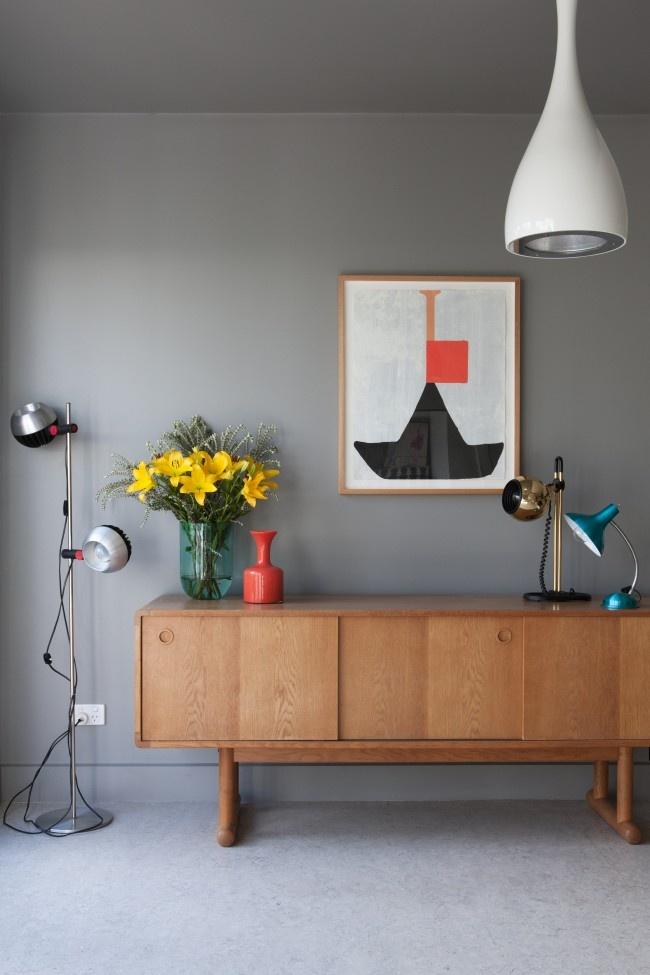 Vintage Lamps mood board mid century
