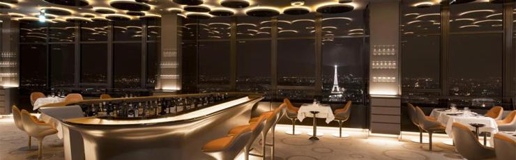 The Futuristic Ciel de Paris Restaurant slide ciel paris