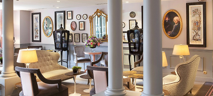 hotal la maison favart interior luxury  Luxury 18th Century Parisian Interiors: La Maison Favart Hotel interior hotel Hotel La Maison Favar slidet