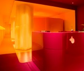 yelo spa interior design color yellow