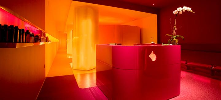 yelo spa interior design color yellow