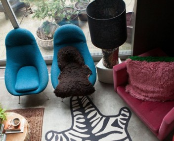 Abigail Ahern's Dark and Dramatic East London Eclectic Home