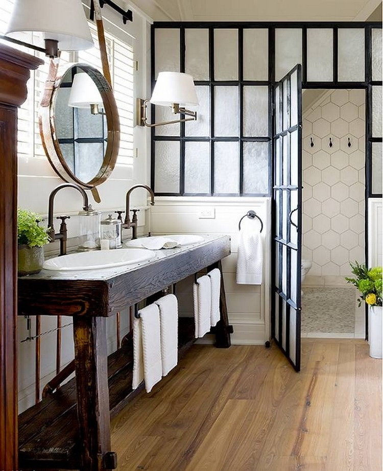 wooden covered bathroom