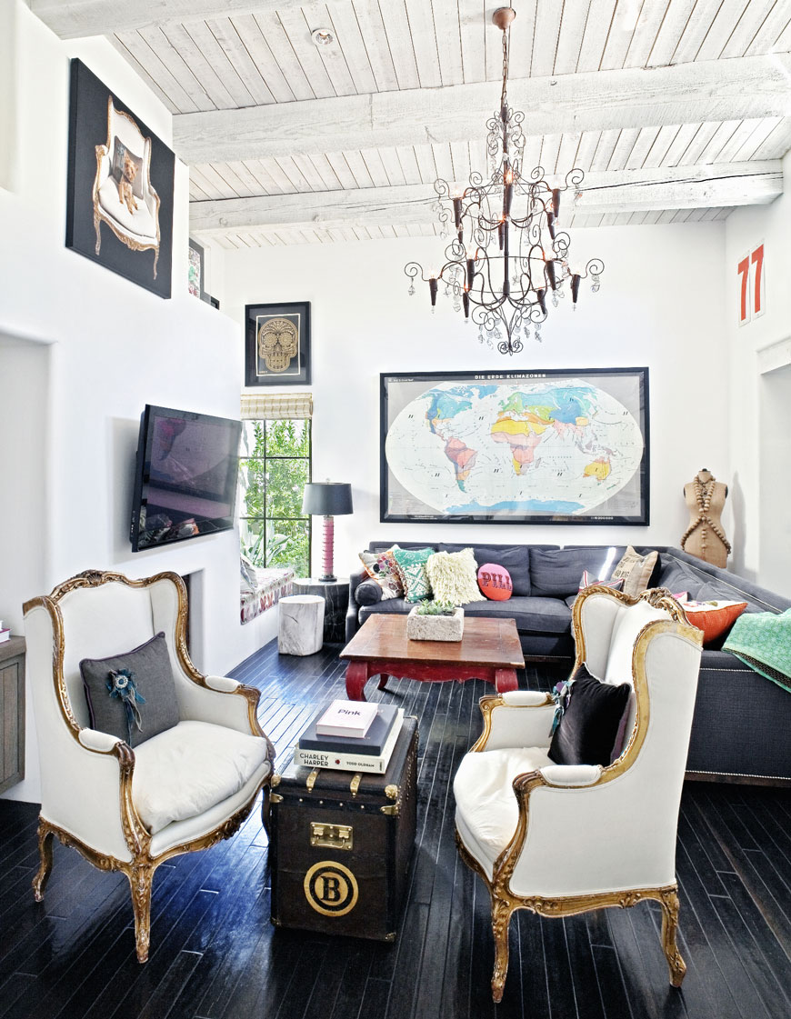 eclectic interior style furniture   Seven Ways to Modernize Your Home eclectic interior style