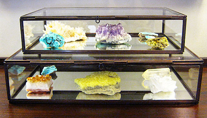 for the new year mineral decor are in Glass Box  For the New Year:  Minerals Decor are In! for the new year mineral decor are in glass box mineral specimens
