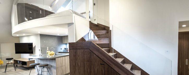 Wonderfull Penthouse Apartment Inside A Converted Church ➤Discover the season's newest designs and inspirations. Visit us at www.designbuildideas.eu #designbuildideas #homedecorideas #colorschemeideas @designbuildideas