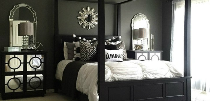 Feel dark with these black décor ideas to your master bedroom ➤Discover the season's newest designs and inspirations. Visit us at www.designbuildideas.eu #designbuildideas #homedecorideas #colorschemeideas @designbuildideas