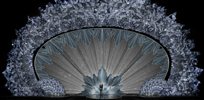 90th Oscars Highlighting the Glistening Swarovski Crystal Stage of the 90th Oscars featured 1