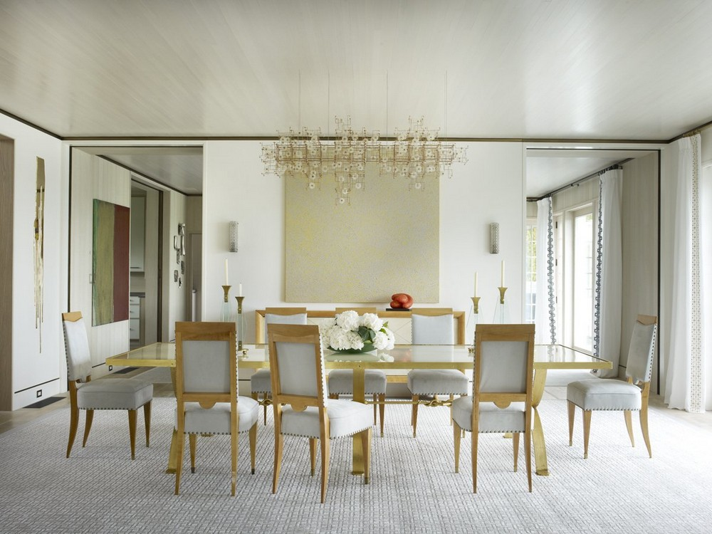 6 fantastic Dining Tables used by top interior designers in projects dining tables 6 fantastic Dining Tables used by top interior designers in projects Long Island Beachfront Hideaway Dining Room by Cullman And Kravis