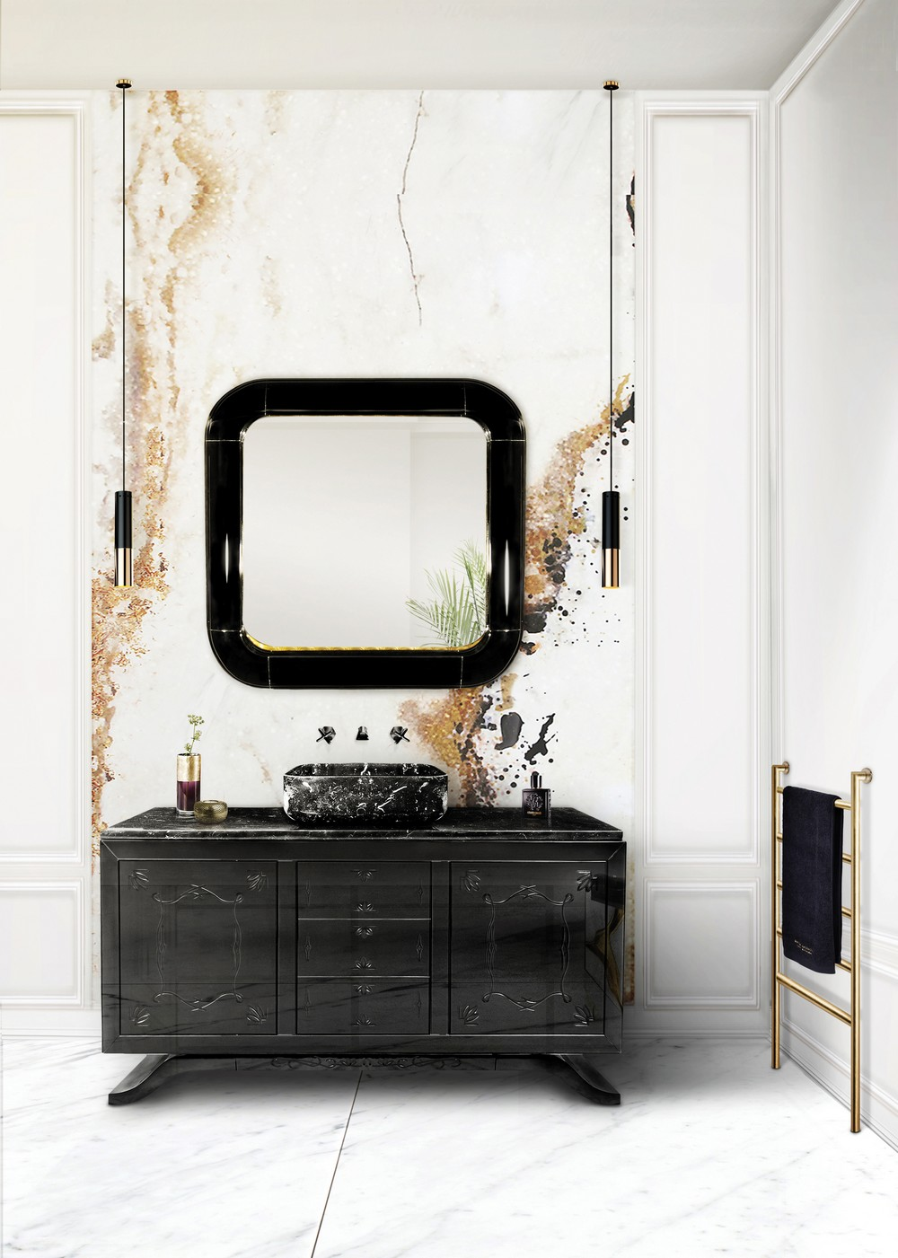 black style Create a new mood to your home decor with Black style MV Bathroom 5