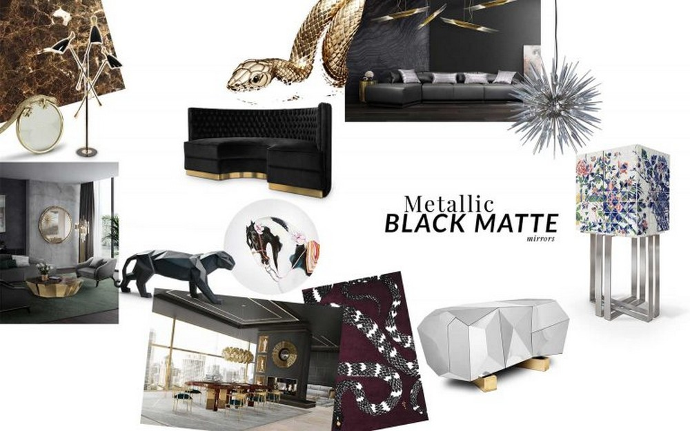 These Furniture Trends By Top Luxury Brands Will Take You to 2020! top luxury brands These Furniture Trends By Top Luxury Brands Will Take You to 2020! MetallicBlack Moodboard