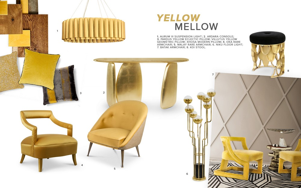 Yellow Mellow: feel inspired by this 2019 interior design trend Yellow Mellow Yellow Mellow: feel inspired by this 2019 interior design trend moodboard trends 2019 color mellow yellow