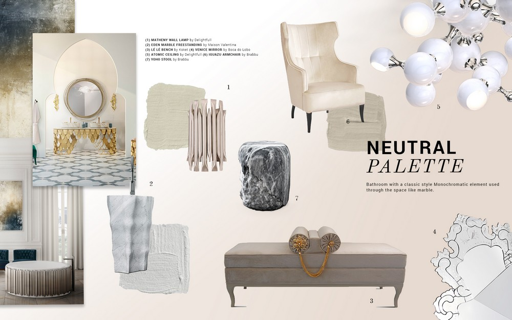 Get the look for your home based on the Neutral Palette neutral palette Get the look for your home based on the Neutral Palette moodboard trends 2019 neutral palette bathrooms