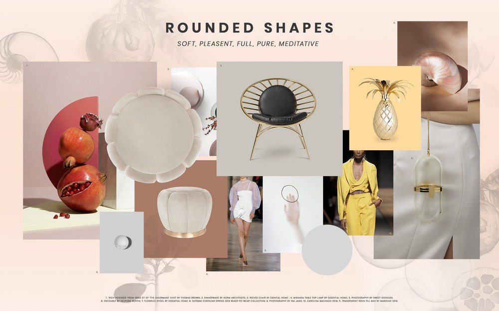 Inspire yourself with this Moodboard dedicated to Rounded Shapes rounded shapes Inspire yourself with this Moodboard dedicated to Rounded Shapes moodboard trends 2019 rounded shapes midcentury
