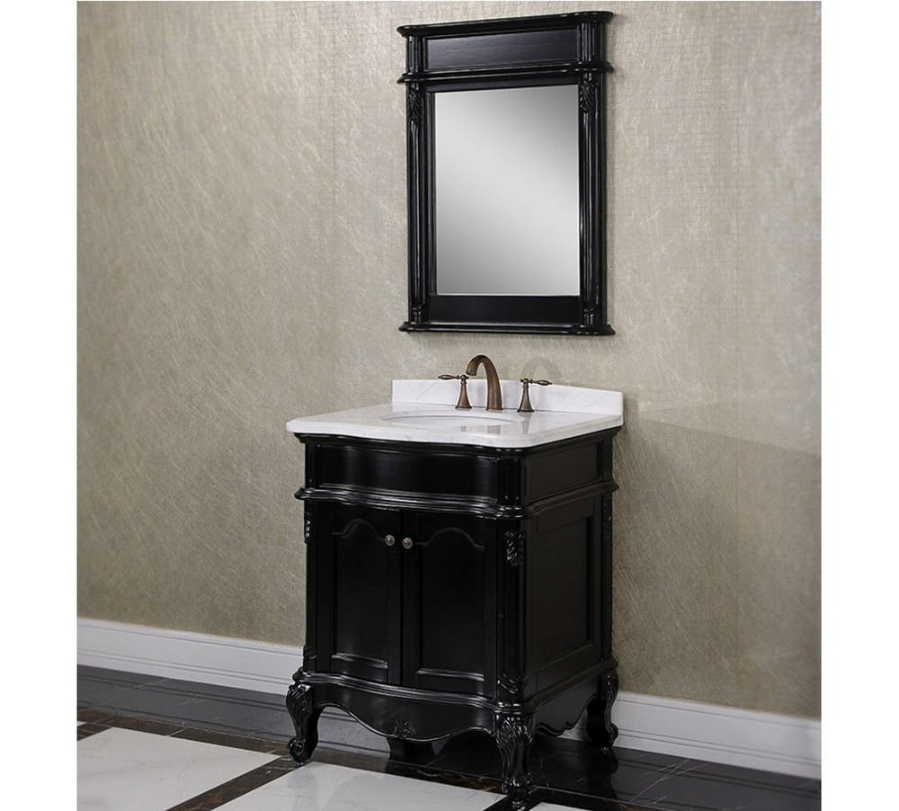 matte black finishes Renovate your bathroom decor with Matte Black Finishes Antique WK Series 30 inch Single Sink Bathroom Vanity Matte Black Finish