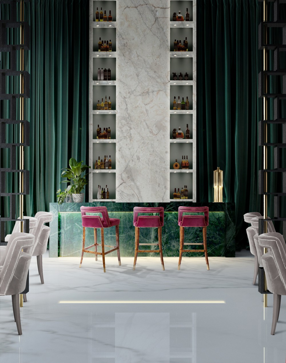 Emerald Green: the perfect color to bring more glamour to your home emerald green Emerald Green: the perfect color to bring more glamour to your home BB Bar 4