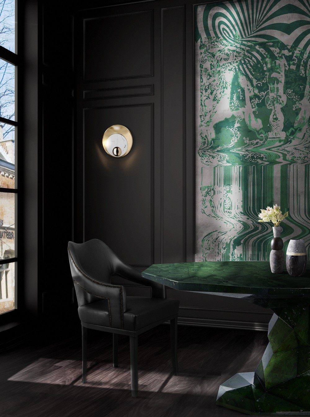 Emerald Green: the perfect color to bring more glamour to your home emerald green Emerald Green: the perfect color to bring more glamour to your home BL Dining Room mar17 1