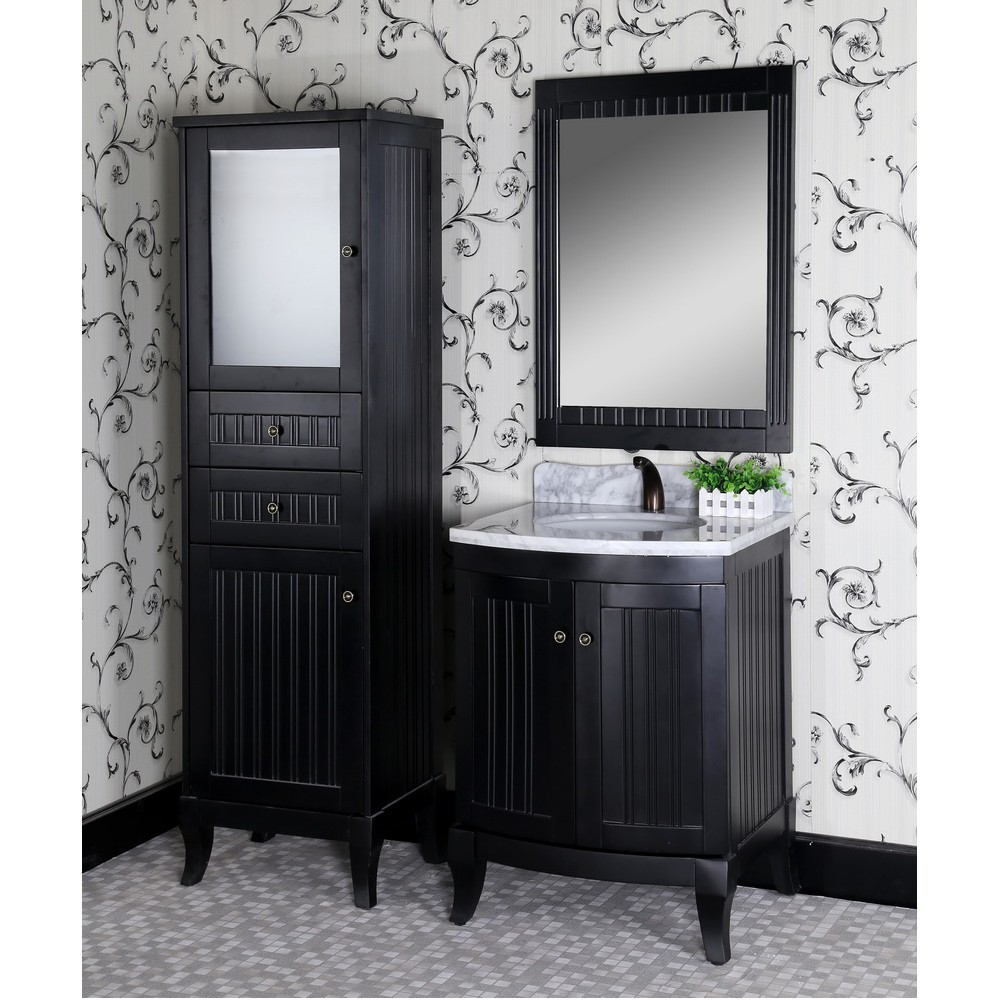 matte black finishes Renovate your bathroom decor with Matte Black Finishes Classic 27 inch Traditional Single Sink Bathroom Vanity Matte Black Finish
