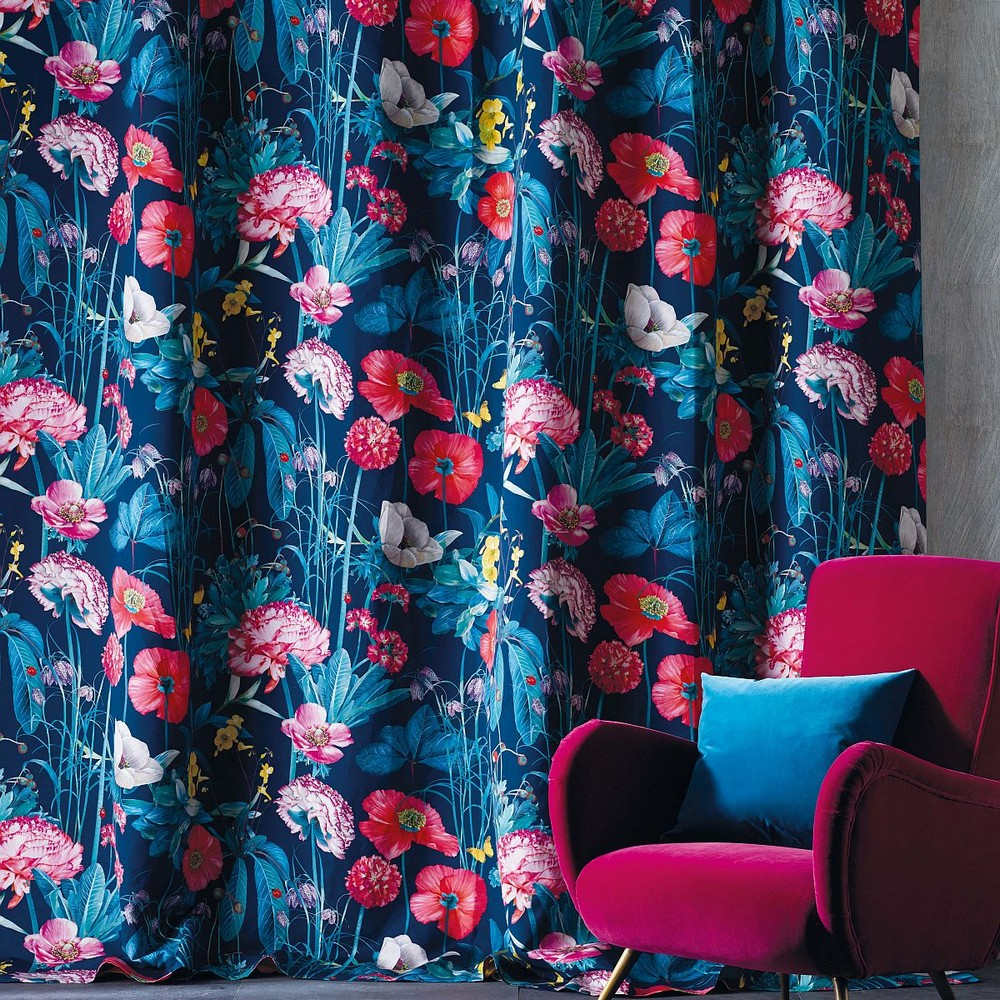 Flora Fabrics: how you can apply this trend to your decor flora fabrics Flora Fabrics: how you can apply this trend to your decor Dekostoff Enchanted Gardens F7010 02G