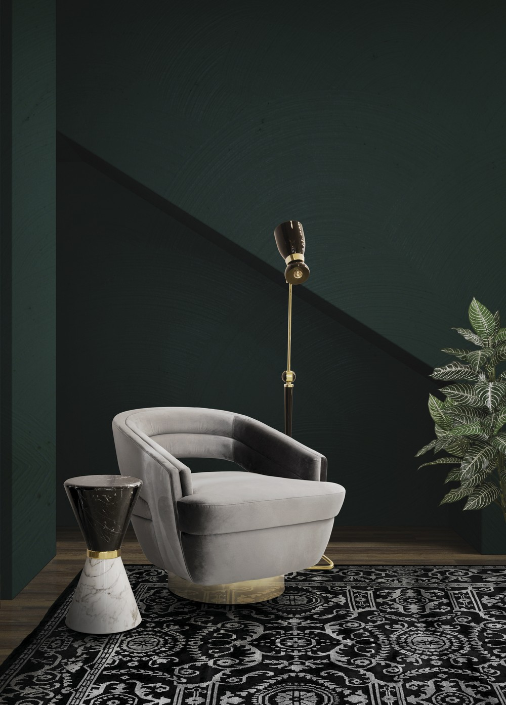 Emerald Green: the perfect color to bring more glamour to your home emerald green Emerald Green: the perfect color to bring more glamour to your home EH Living Room mar17 14