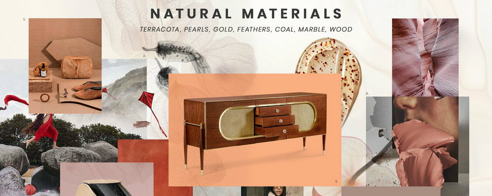 natural materials Inspire yourself with the Natural Materials trend in interior design FEATURE 6