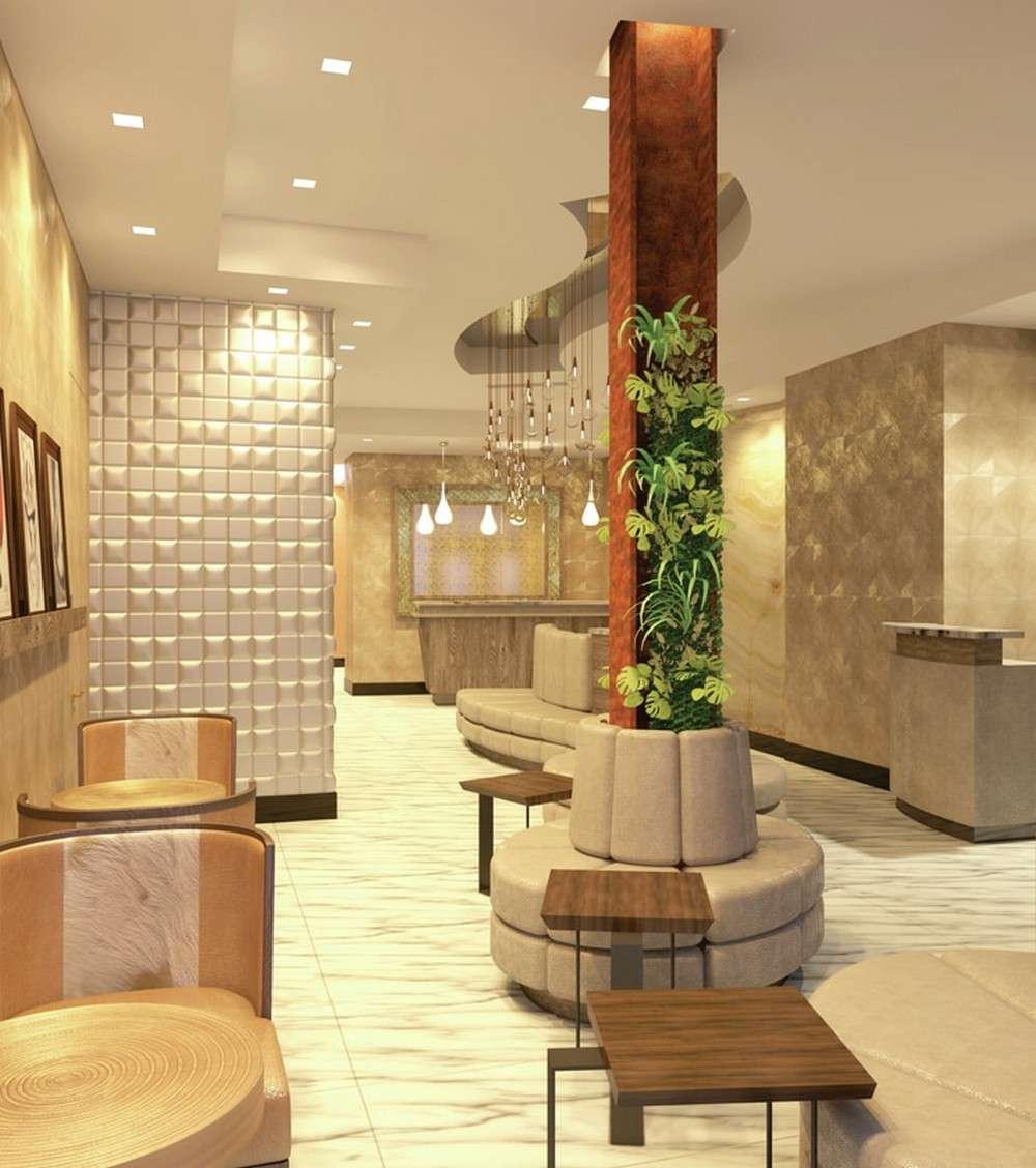 These are some of the best projects from DiGuiseppe Architects diguiseppe architects These are some of the best projects from DiGuiseppe Architects lobby reception desk view render 1 orig