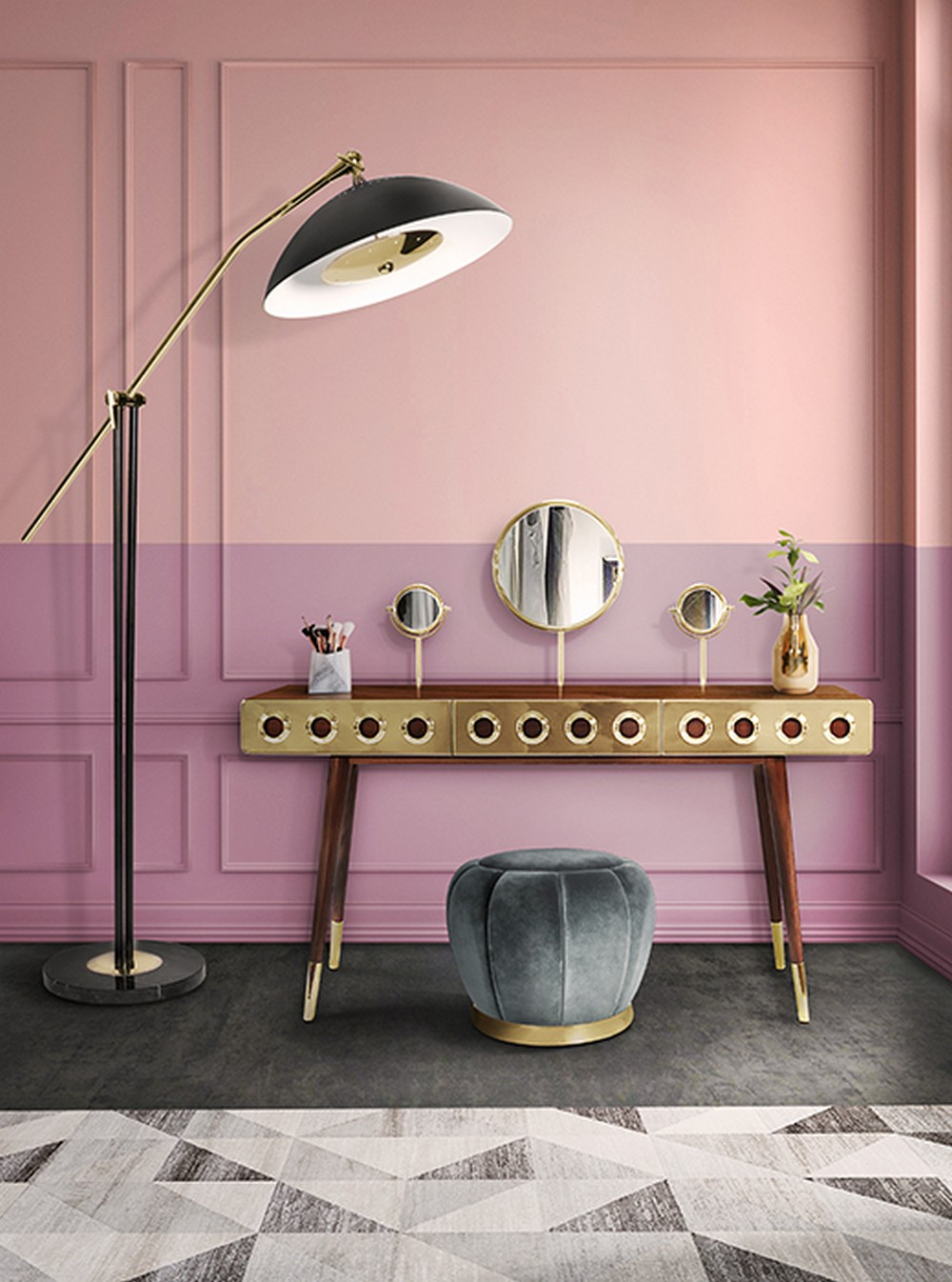 modern home decor A list of Modern Home Decor trends to change your home decor monocles dressing table 1